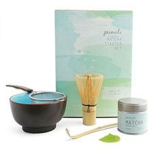 Matcha Tea Set by Pumeli with Strainer, Bowl to Make Japanese Green Tea - 1 Kit -- Want to know more, click on the image.