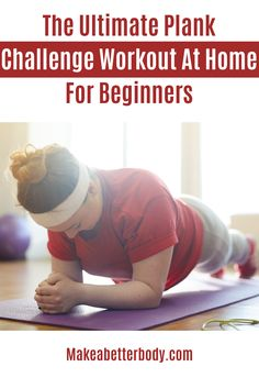 A plank exercise for beginners fits all workout plans. One of many core exercises that works well with beginners' exercise routines and strength training. Beginner Workout At Home, Easy At Home Workouts, Workout For Beginners, Plank Exercise Routine, Plank Workout, Plank Challenge, Workout Challenge, Metabolic Workouts, Nice Body
