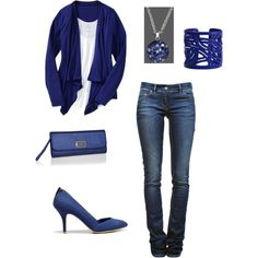 Go Big Blue!, created by erin-waggoner on Polyvore
