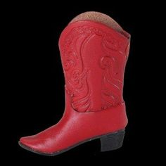Christmas Ornament, Country Western, Red Leather Cowboy Boot - You'll Be Rockin' Cool Kicks in No Time with These Nicely Detailed Boot Ornaments. Size: 3 1/2 In. MC001 http://www.amazon.com/dp/B00EZQQKQS/ref=cm_sw_r_pi_dp_K16Wvb1458A87