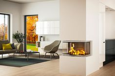 Find your new fireplace in a beautiful design that creates a warm centrepiece in your home. Get Scandinavian quality with a fireplace insert - RAIS Home Fireplace, Modern Fireplace, Log Burner, Fireplace Inserts, Piece A Vivre, Innovation, New Homes, Lounge, Room Decor