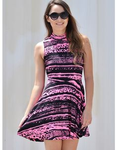 Shop ModDeals.com for Neon Pink Nadia Sleeveless Party Dress  in our cheap trendy Dresses category. Find trendy cheap clothing for women, discount shoes, jewelry sales, perfume & cheap accessories for