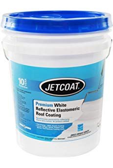 Jetcoat Cool King Elastomeric Acrylic Reflective Roof Coating White 5 Gallon 10 Year Protection Roof Coating Elastomeric Roof Coating Cool Stuff