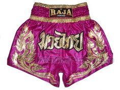 RAJA Muay Thai shorts - Thai-style flames - PINK