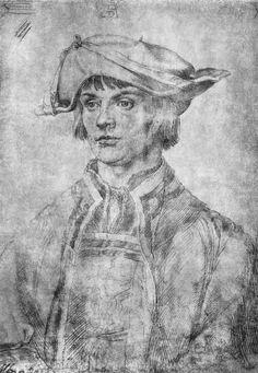 Porträt des Lukas van Leyden. Albrecht Durer Albrecht Durer, Rembrandt, Silverpoint, Jan Van Eyck, Jackson's Art, Great Works Of Art, Landsknecht, Portrait Sketches, Renaissance