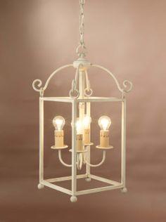 Farol San Gregorio 3 luces cuadrado, se puede cambiar el color de la forja
