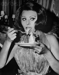Enjoying a tasty dish, Sophia Loren candidly polishes off the last piece of cake from a saucer decorated with a miniature bride and groom. The treat was part of the Italian actress' latest film,. Get premium, high resolution news photos at Getty Images Hollywood Icons, Old Hollywood, Divas, Sophia Loren Images, She Wolf, Italian Beauty, Italian Style, People Eating, Star Wars