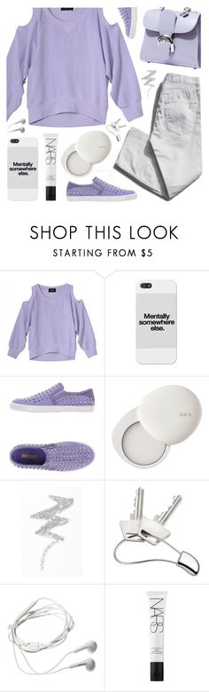 """""""untitled"""" by deepwinter ❤ liked on Polyvore featuring Garance Doré, Just Cavalli, lilah b., NYX, Georg Jensen, Samsung, NARS Cosmetics and Forever 21"""