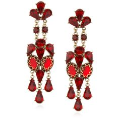 Opera Earrings, Red (12.130 RUB) ❤ liked on Polyvore featuring jewelry, earrings, accessories, red, brincos, holiday earrings, red jewelry, long post earrings, earring charms and charm earrings