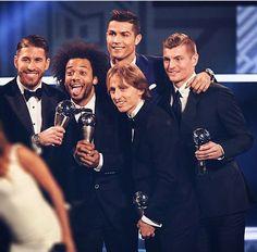 Our FIFPro World XI stars! DF Sergio Ramos DF Marcelo FW Cristiano MF luka FW Toni Kroos #HalaMadrid