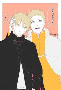I hope this happen soon Naruto Uzumaki and Boruto Uzumaki Naruto Kakashi, Anime Naruto, Naruto Comic, Naruto Shippuden Sasuke, Sarada E Boruto, Naruto Cute, Anime Guys, Sasunaru, Narusasu