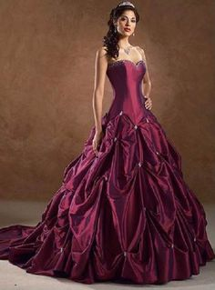 Gothic Princess Wedding Dresses Red
