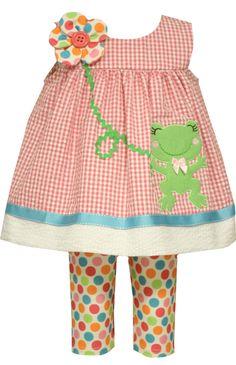 Bonnie Jean Happy Frog Legging Set