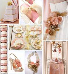 Wedding colors: blush, pink and gold
