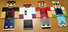 The Drunk Minecraft gang plus Yamimash  perler beads by Leon Courtney