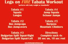 Y'all ready for this: LEGS ON FIRE tabata workout #fitfluential