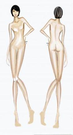figurines de moda frente y espalda - Buscar con Google