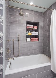 Superbe Jeffrey Court Tile Bathroom Transitional With 3 Wall Alcove Tub Bath Niche  Breakwater
