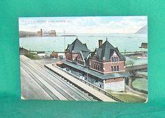 C.N.R. Railroad Station Port Arthur Ontario Postcard Port Arthur, Vintage Postcards, Bay Area, Thunder, Worlds Largest, Ontario, Minnesota, Auction, Canada