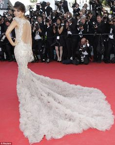Cannes 2012: Eva Longoria and Diane Kruger compete with incredible high-impact gowns | Mail Online