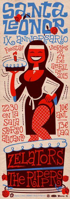 Santa Leonor's Anniversary poster on Behance
