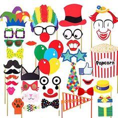 7-gost(TM) 36PCS Circus Clown Birthday Party Masks Photo ... https://www.amazon.com/dp/B06XW3PQ68/ref=cm_sw_r_pi_dp_x_0gvrzbHMDWPXZ