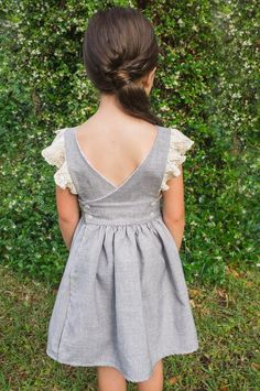 U-Turn Pinafore – Duchess & Hare Girls Dresses Sewing, Dresses Kids Girl, Little Girl Outfits, Vintage Girls Dresses, Children Dress, Children Clothing, Baby Dresses, Girl Clothing, Prom Dresses