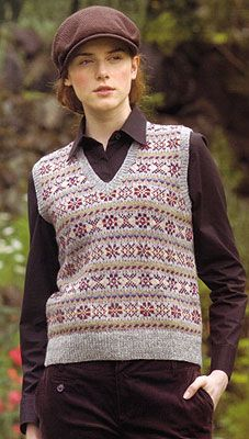 Gearing up to make a fair isle vest. Fair Isle Knitting Patterns, Fair Isle Pattern, Knitting Blogs, Knitting Designs, English Country Fashion, Norwegian Knitting, Knit Vest Pattern, Fair Isles, How To Purl Knit