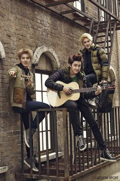 An EXO with 11 members posed in sporty outfits for the November issue of Vogue Girl. As models for Kolon Sport, the EXO members posed in playful scenarios Chanyeol, Kai Exo, Exo Do, Kyungsoo, Baekhyun Fanart, Chen, K Pop, Tao, Got7