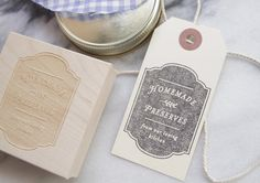 Canning Label Rubber Stamp Jelly Preserves by SubstationPaperie