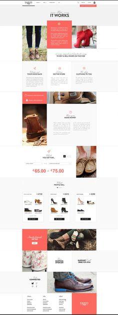 Shoesprive concept by Thomas Le Corre, via Behance