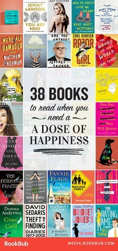 38 inspirational books to read when you're looking for a dose of happiness. From nonfiction memoirs to hilarious fiction books, these books are worth a read.
