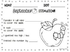Free weekly estimation activities for August- November!!