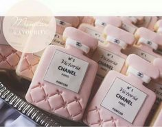 Pink #Chanel No5 inspired #cookies