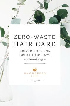 Zero-Waste Hair Care: Ingredients for Great Hair Days ~ Cleansing ~