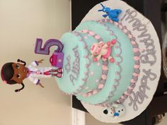 My Doc McStuffins cake! Doc Mcstuffins Cake, Doc Mcstuffins Birthday Party, 2nd Birthday Parties, Girl Birthday, Cake Cookies, Cupcake Cakes, Cupcakes, Cute Birthday Ideas, Cakes And More