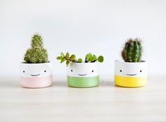 Ceramic small plant pot Ceramic planter Succulent by noemarin