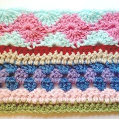 Stash-busting As-You-Go Stripey Blanket - free crochet pattern. Crochet Afghans, Crochet Baby Blanket Sizes, Crochet Blanket Border, Striped Crochet Blanket, Crochet Bedspread Pattern, Crochet For Beginners Blanket, Crotchet Patterns, Crochet Stitches Patterns, Scrap Yarn Crochet