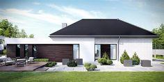 Projekt domu HomeKoncept-32 123,52 m2 - koszt budowy 257 tys. zł - EXTRADOM Unique House Plans, New House Plans, Best Modern House Design, Garden Canopy, Bungalow House Plans, Villas, New Homes, Exterior, Outdoor Decor