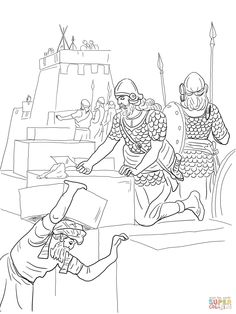 Nehemiah Coloring Pages Bible
