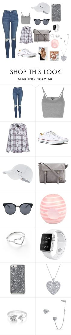 """""""I'm On The Lowkey"""" by takhya ❤ liked on Polyvore featuring Topshop, Rails, Converse, NIKE, Quay, River Island, Jordan Askill, EF Collection and Bling Jewelry"""