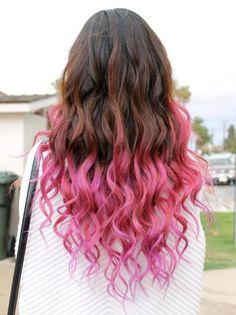 Pretty Pink dip dye hair