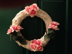 Pink roses wreath summer sale. Price shown by Redskinsfanforever, $5.00