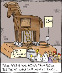 Cartoon Jokes, Funny Cartoons, Argyle Sweater Comic, Teaching Latin, Latin Language, History Jokes, Trojan Horse, Ancient Myths, Super Funny Quotes