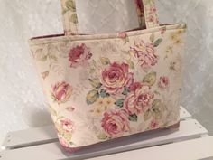 A personal favorite from my Etsy shop https://www.etsy.com/listing/252996493/cottage-rose-tote-in-rose-pink-ivory-and