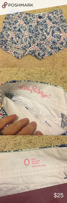 Lilly Pulitzer shorts Worn once for sorority rush... literally for 3 hours Lilly Pulitzer Shorts