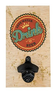 Santa Barbara Design Studio Save Water Drink Beer Barstool Philosopher Wall Plank Bottle Opener >>> See this great product.Note:It is affiliate link to Amazon.