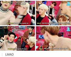 Q: Mark are you okay? BamBam: No he is not Mark: Are you Mark!?!?!