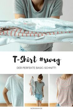 My absolute favorite pattern for t-shirts! During the summer, in the winter … – DIY MODE & TRENDS – Crafts Easy Sewing Projects, Sewing Projects For Beginners, Knitting For Beginners, Sewing Hacks, Sewing Tips, Sewing Tutorials, Sewing To Sell, Sewing For Kids, Sewing Patterns Free
