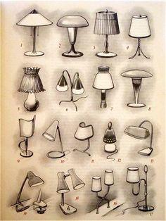 Image result for table lamp design sketch